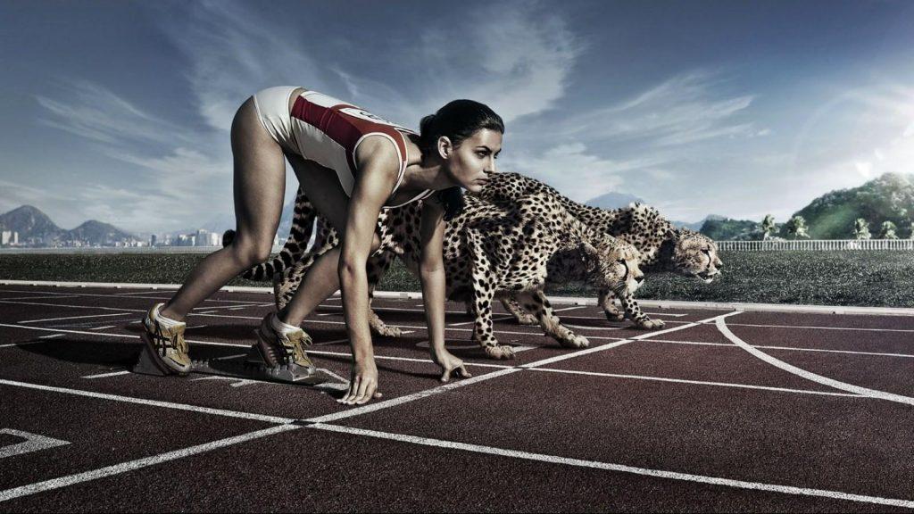 спортсменка пытается бороться с эмоциями в спорте, чтобы не показывать свой страх соперникам