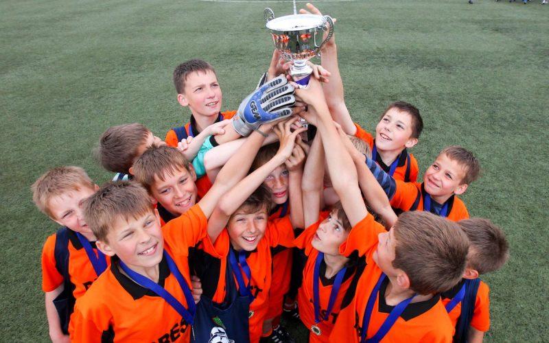 футбол - командный спорт для детей