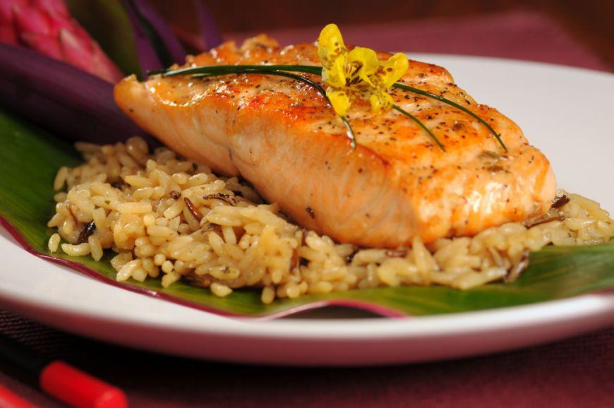 Рыба с рисом - лучший обед после тренировок
