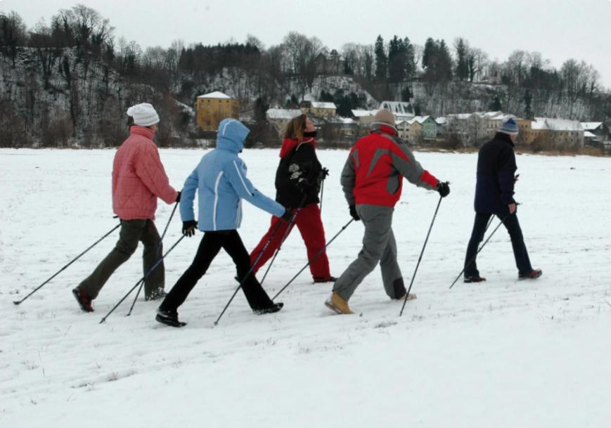 Активный отдых зимой - скандинавская ходьба